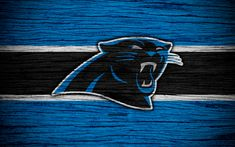 Download wallpapers Carolina Panthers, NFL, 4k, wooden texture, american football, logo, emblem, Charlotte, North Carolina, USA, National Football League, NFC South