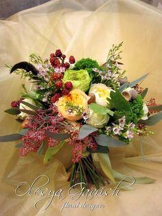 Олеся Гавриш - свадебная флористика и декор - Свадебный букет-растрёпыш в стиле бохо