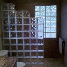 Glass Block Shower Wall Design Ideas, Pictures, Remodel and Decor