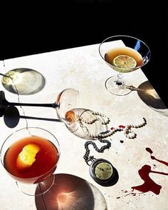 We like a little gore with our cocktails. How do you do Halloween?  #regram : Gorgeous styling by @maggie_ruggiero for @andreagentl #AGENCloves