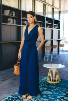 Navy Meadows Jumpsuit