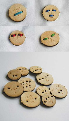 Funny Buttons!  Make out  of Shrinky Dinks!!!