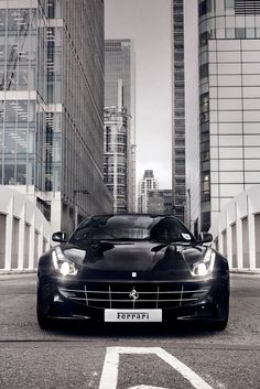 Beautiful Black Ferrari FF taking on the city! Win the 'ultimate supercar' experience by clicking on this #Ferrari