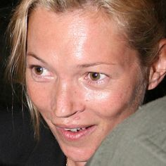 Kate Moss...even supermodels don't look like angels in the morning