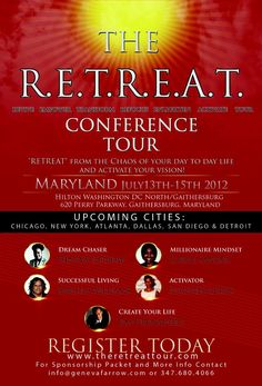 Bigger and Better....The RETREAT is still on and coming in Jan. 2013