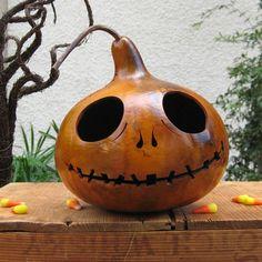 Halloween Gourd JackOLantern Natural Spooky by pinchmeboutique, $20.00