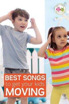 Here is a list of the best fun preschool movement songs. Try out a few of these silly action songs to get your preschoolers moving and grooving. These are great circle time ideas and music ideas for preschool, pre-k, kindergarten or with your kids for at home learning. Includes links to youtube preschool songs. Work on gross motor skills coordination. Your kids will love to dance and sing along with these early childhood favorite
