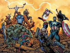 carlos pacheco art | Ultimate Avengers by Carlos Pacheco | Art of Carlos Pacheco