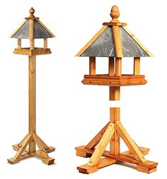 Feed the birds in your garden with this wooden bird table by Tom Chambers.