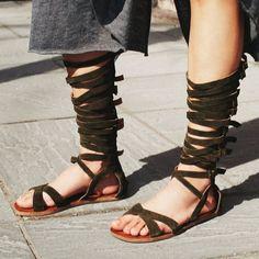 Jeffery Campbell Gladiator Sandals In Khaki Green
