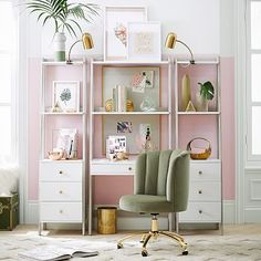 Organize essentials with our space-saving Highland Wall Desk Narrow Bookcase with Drawers Set. Prop the smart wall desk against your wall for a multi-functional space-saving solution. Its bookcase is perfect for decorating the smallest of spaces b… Narrow Bookshelf, Bookcase With Drawers, Wide Bookcase, Bookcase Desk, Desk Cubby, Ladder Desk, Cubby Storage, Office Storage, Storage Drawers