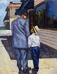 African American Art Painting - The Education Of A King by Colin Bootman