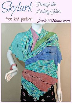 Skylark Through the Looking Glass - free knit pattern by Jessie At Home: