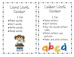 """Creative Teaching: """"I Can"""" posters and a freebie--student response sheets for listening, library, and big books centers! :)"""