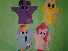 My Little Pony's Felt hand puppets