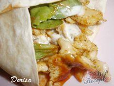 Recept Tortily plněné kuřecím masem Tortillas, Baked Potato, Risotto, Hamburger, Tacos, Pizza, Food And Drink, Mexican, Vegan