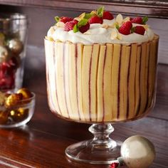 Raspberry-Almond Trifle