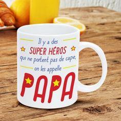 Mug Papa - Super-Héros sur Cadeaux et Anniversaire