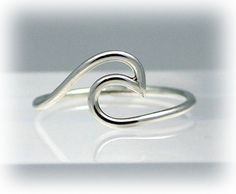 Sterling silver wave ring, wave ring, silver ring, ocean, beach, nautical, eco friendly, statement, novelty, women, water