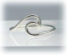 Welle, Ring, Ring Silber Welle, Anweisung Ringe, Meer, Strand…