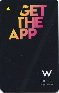 """Social Media meets Mag Stripe Technology - A Hotel Key Card encouraging guests to """"Get The App"""""""