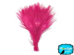 Wholesale Peacock, 50 Pieces - HOT PINK Bleached and Dyed Tails Peacock Feathers (bulk) : 1300