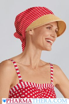 c255eea0153 Chemo Cap With Sun Shield Summer Look Red