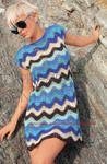 Мобильный LiveInternet Мини-платье с волнистым узором | Лейла_Хилинская - Дневник Лейла_Хилинская |