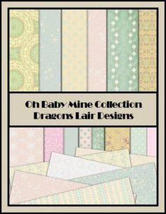 Oh Baby Mine Collection - Patterned 12 x 12 Papers