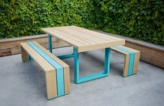 Simple Outdoor Furniture made of White Oak