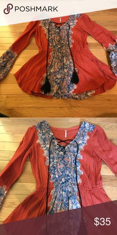 Free people shirt Never worn Free People Tops Blouses
