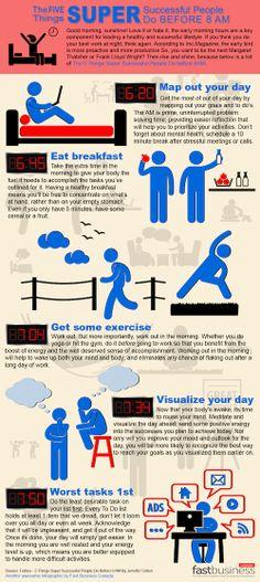 5 cosas que la gente exitosa hace antes de las 8AM