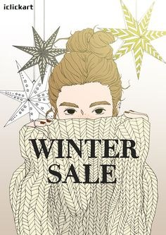 #winter   #big   #sale   #image   #poster   #illustration   #style   #art   #toon   #iclickart   #npine   #shopping