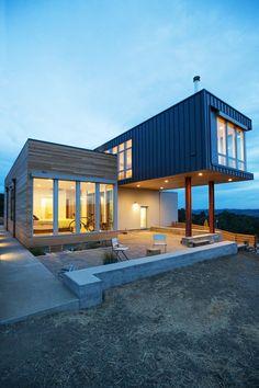 façade terrasse - Cloverdale par Elemental Architecture - Usa - Jaime Kowal Photography