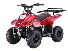 Peace Powersports TPATV501 METALLIC RED 110cc Automatic 4 Stroke 2WD Chain Driven ATV * Details can be found by clicking on the image. (This is an affiliate link) #Scooters