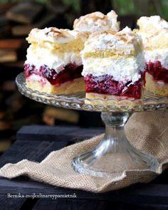 Bernika - mój kulinarny pamiętnik: Ciasto malinowe z kremem na bieluchach