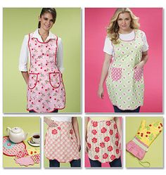 Aprons, Trivets and Mitt sewing pattern, McCalls 6092, Mitt pattern, Hot Pad sewing pattern via Etsy