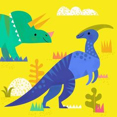 Last Dino grouping from the Target tin I worked on! Happy Friday! #dinosaurart #parasaurolophus