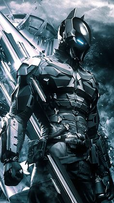 """Is this supposed to be the Anti-Batman """"wrath""""? because I love it ------- << Original Comment >> ------- Batman Arkham Knight Armor Poster Superman, Posters Batman, Poster Marvel, Heros Comics, Dc Heroes, Marvel Dc Comics, Comic Book Characters, Comic Character, Comic Books Art"""