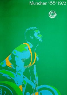 Munich 1972 Summer Olympics - Weightlifting poster. Design by Otl Aicher