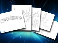 Enjoy these Super Friends printables, courtesy of DC Comics Fan Family.