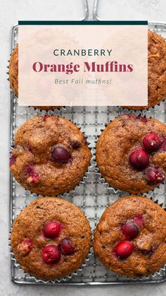 These Cranberry Orange Muffins are bursting with all those seasonal flavors you love! Made from healthy ingredients, including fresh cranberries and orange zest. Enjoy!