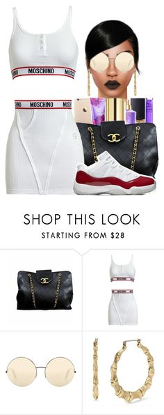"""9:21"" by envymeeeee ❤ liked on Polyvore featuring Chanel, Moschino, Victoria Beckham and Betsey Johnson"