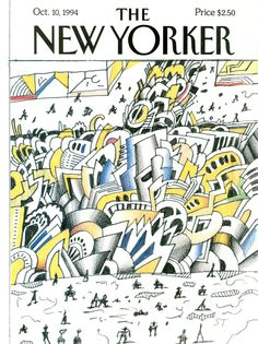 "The New Yorker - Monday, October 10, 1994 - Issue # 3629 - Vol. 70 - N° 31 - Cover ""Canal Street Traffic"" by Saul Steinberg"