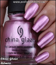 china glaze swatches of all colors | China Glaze Admire is a pink metallic-y shimmer. The warm set is much ...