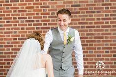 First looks can be such a happy, personal moment on your wedding day!