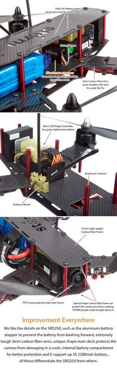 STORM Racing Drone (RTF / SRD250) http://www.helipal.com/storm-racing-drone-rtf-srd250.html