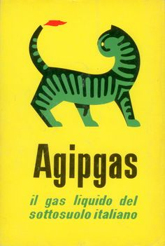 . Barducci, logo for Agipgas, 1953, and Agip's logo  in the redesigned version by Bob Noorda, 1972