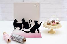 {Les Papiers de Pandore} Une carte d'anniversaire pleine de chats