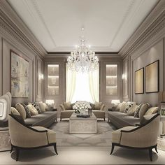 There are many elegant living room ideas that you might decide to get applied in your living room design. Because you have landed here then most probably you want Elegant living room answer. Luxury Living Room, Luxury Living Room Design, Elegant Living Room Design, Room Interior, Luxury Living, Elegant Living, Interior Design, Living Decor, Living Design